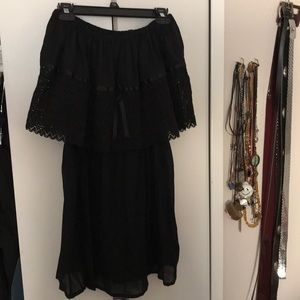 Dresses & Skirts - Off the shoulder sheer black dress